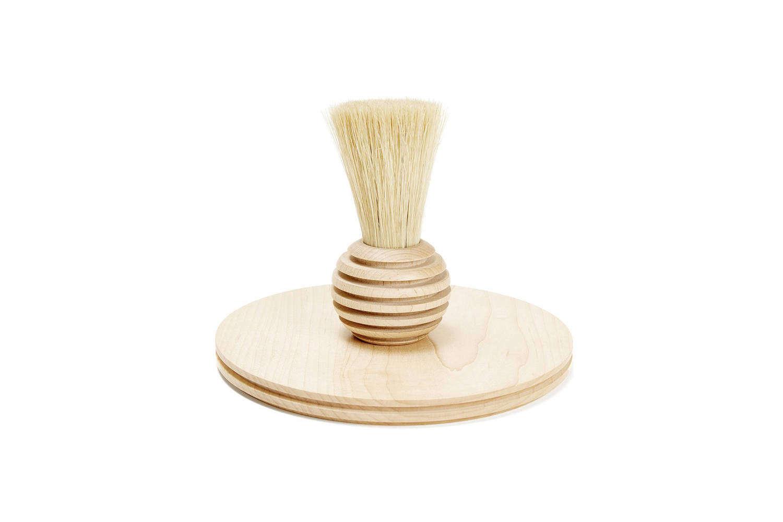 Rib Tray Brush Set in Natural by Pat Kim at Tetra