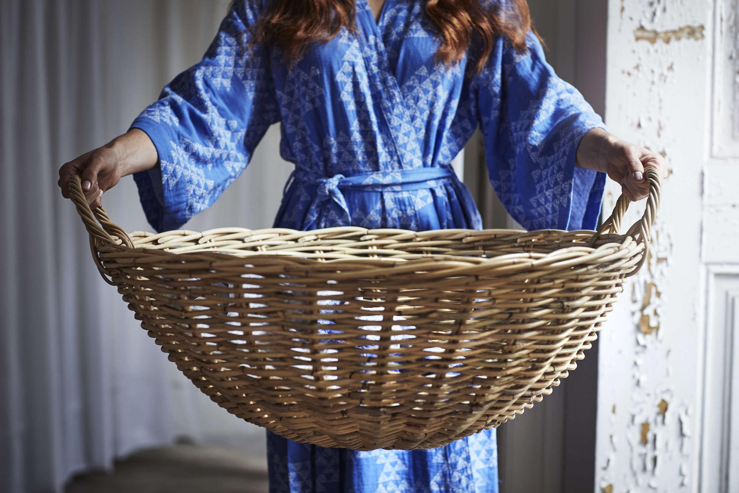 Ikea Tankvard Rattan Basket with Handles
