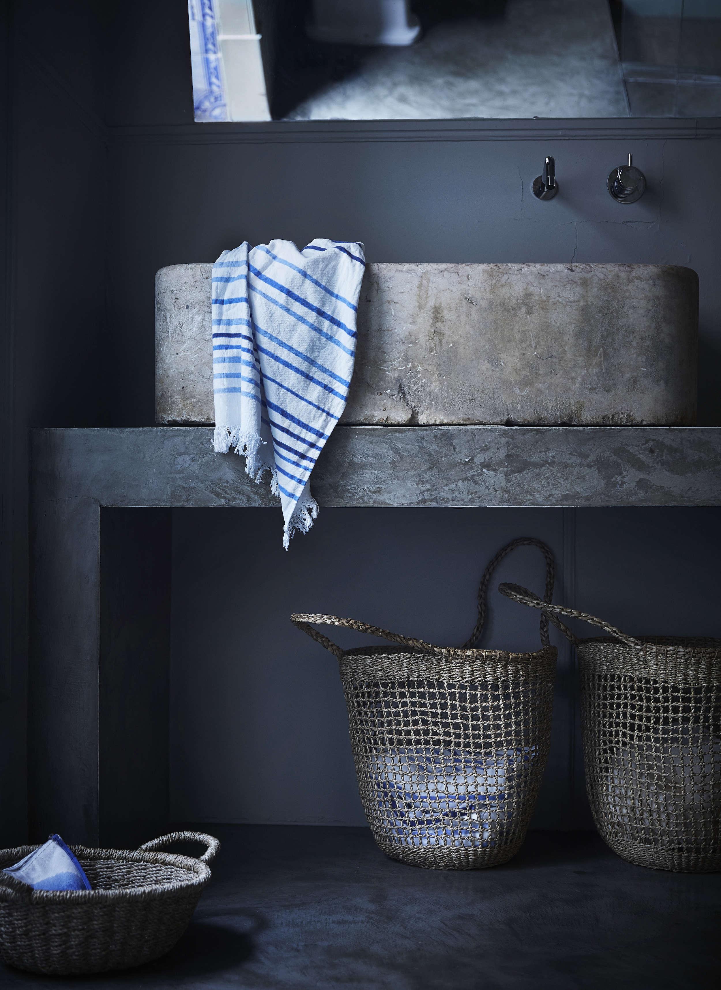 Ikea Tankvard Seagrass Basket with Handles