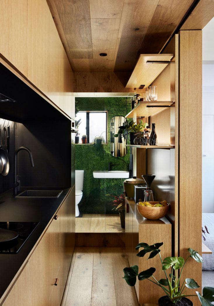 Tsai Design Type St. Apartment in Melbourne Bathroom Door