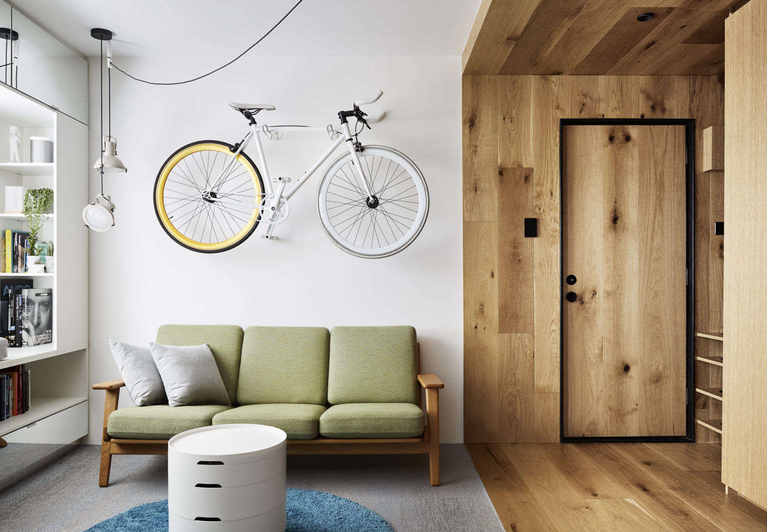 Type St. Apartment in Melbourne Living Room Bike Rack by Tsai Design