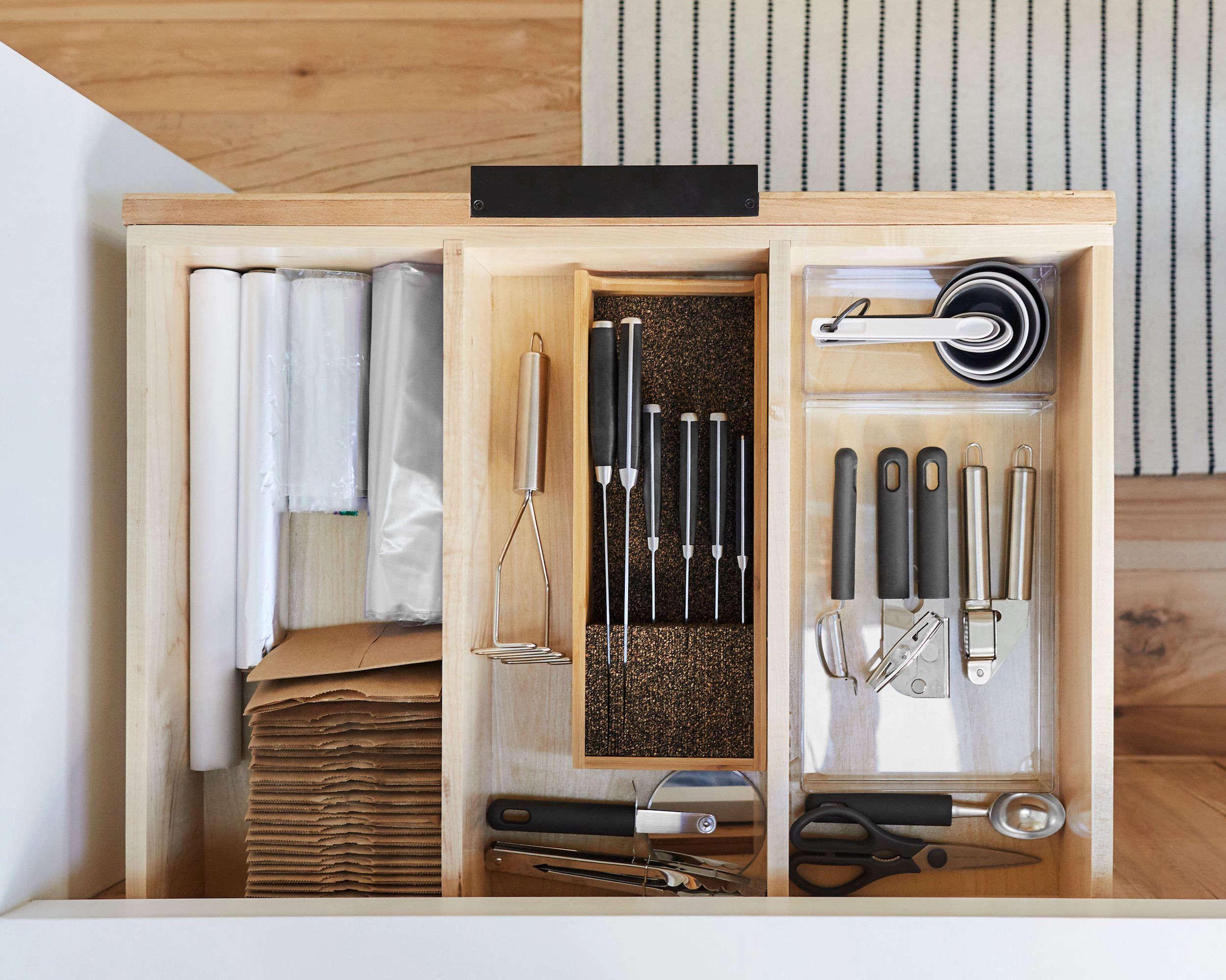 Emily Henderson Mountain House Kitchen Drawer Organization