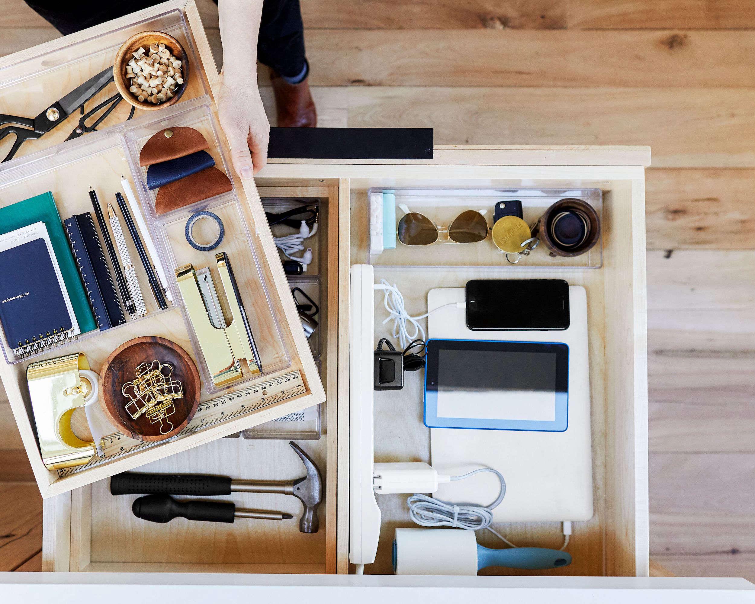 Emily Henderson Mountain House Kitchen Junk Drawer