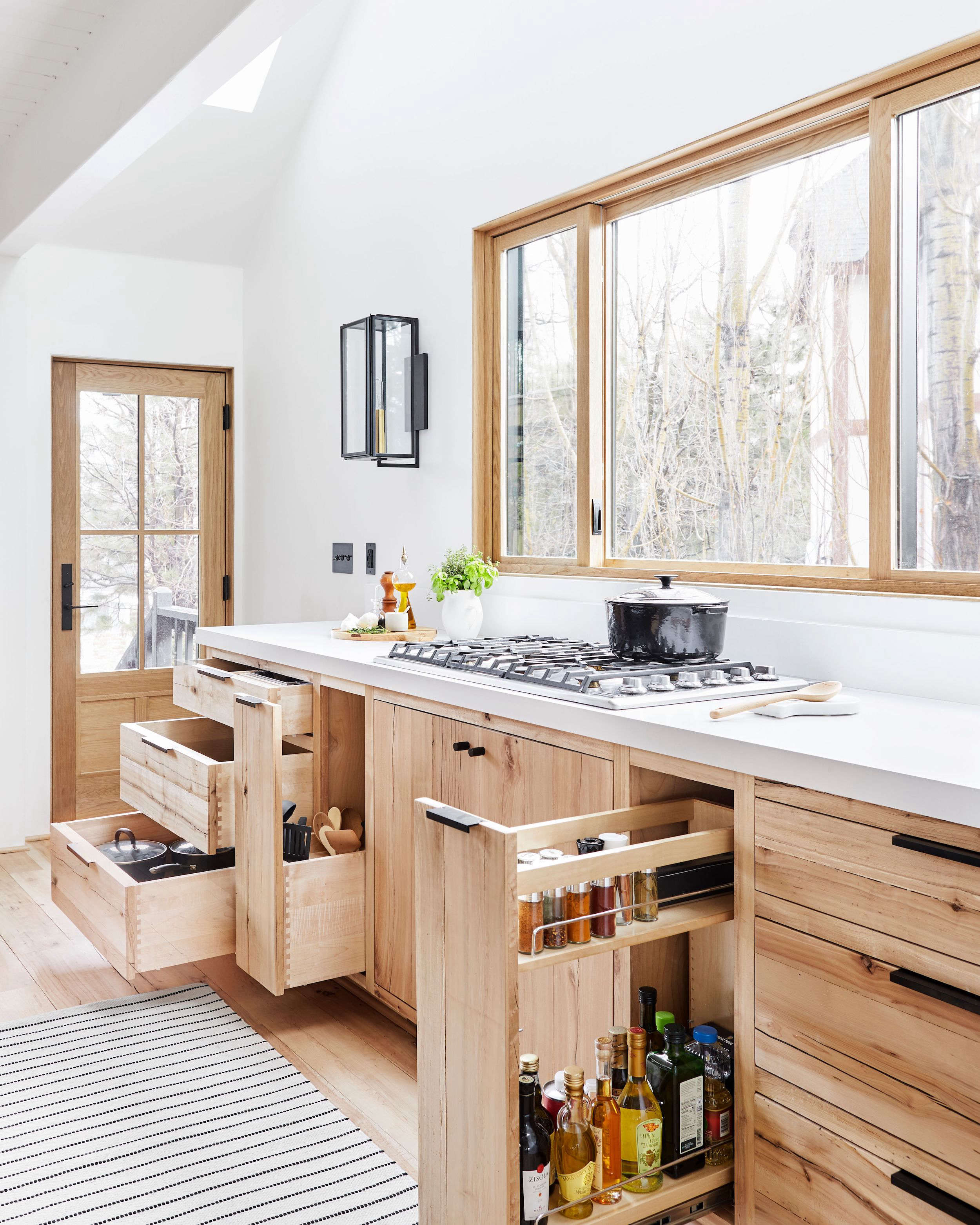 Emily Henderson Mountain House Kitchen Cooking Utensils Drawer