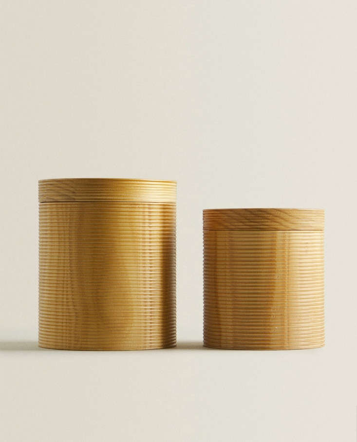 Wooden Box with Raised Design at Zara Home