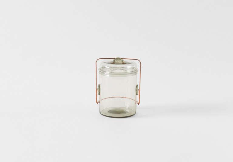 Peter Ivy Grey Glass Storage Jar
