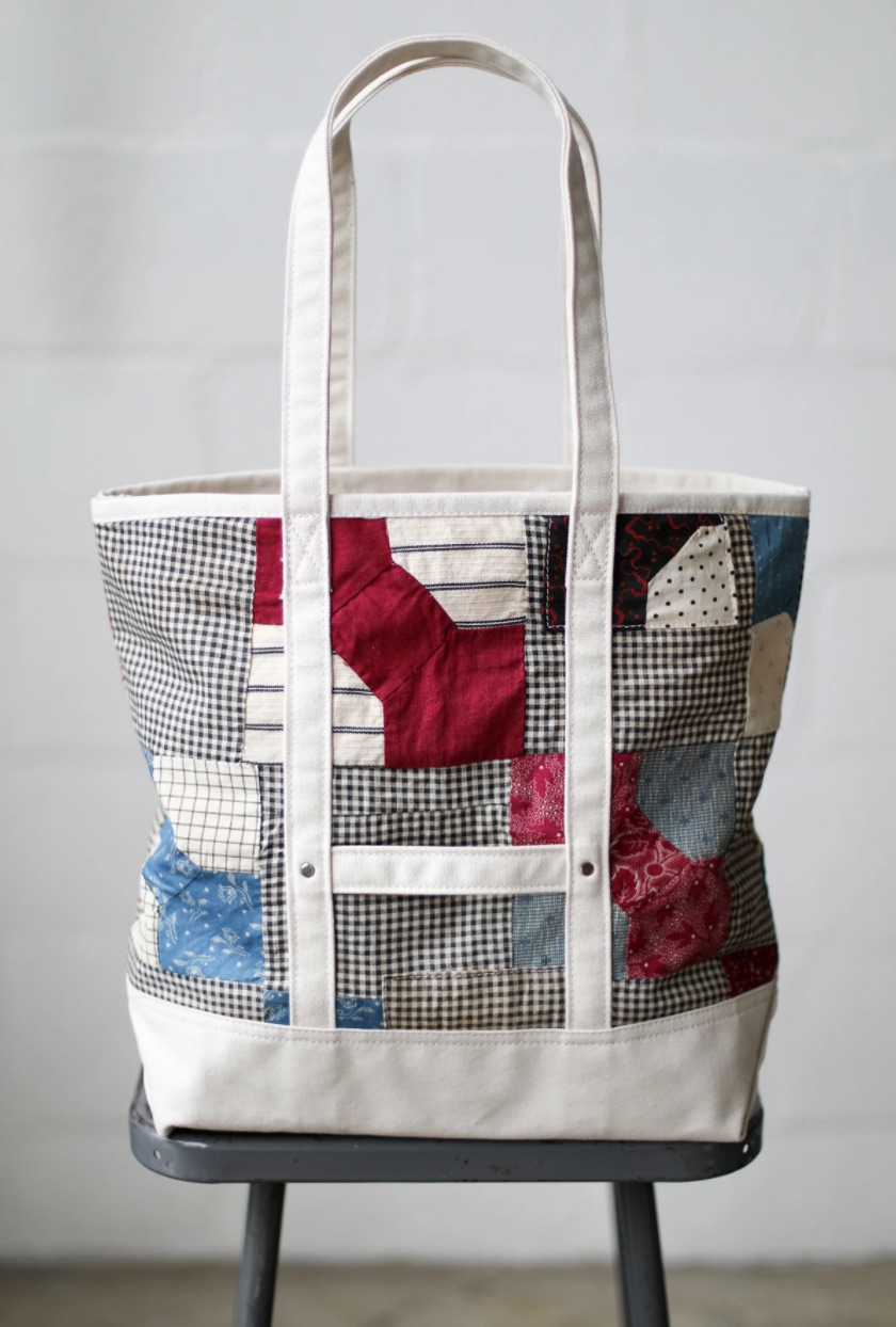 A colorful version with a 1940s-era quilt.