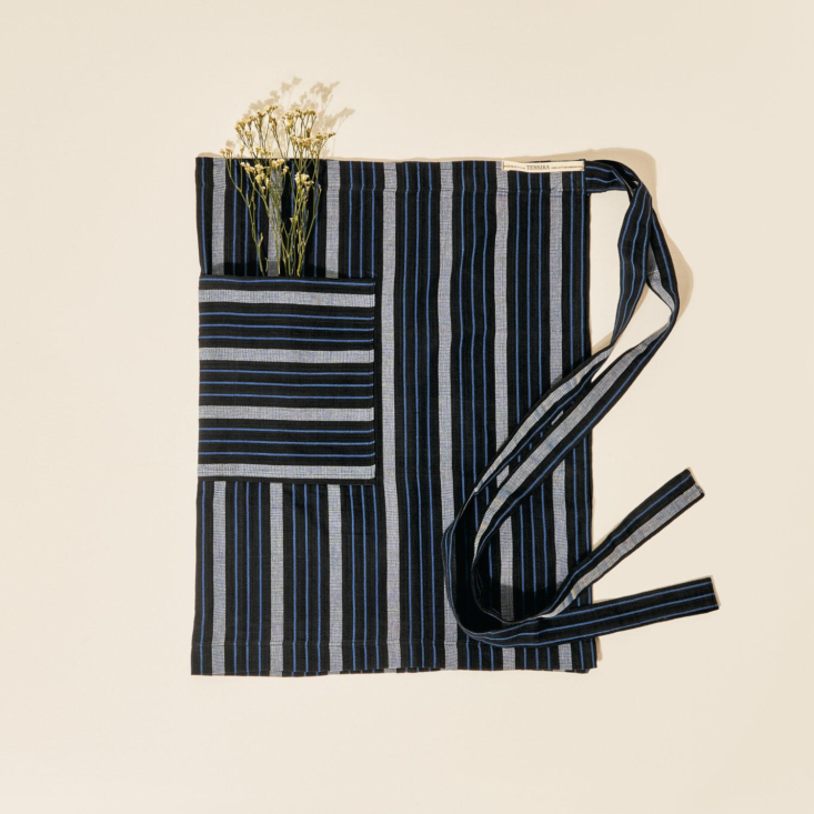 Half Apron in Blue and Black by Tensira from Goodee