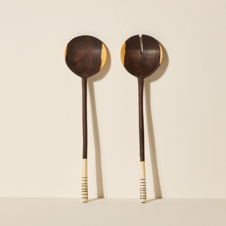 Ebony Salad Spoons by Siafu Home from Goodee