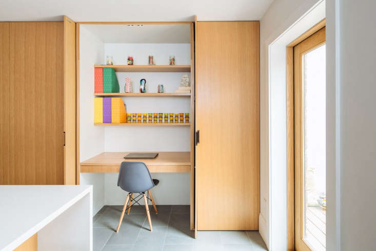 Light to a Brooklyn Brownstone: Everyone needs a craft station and place to hide your papers!