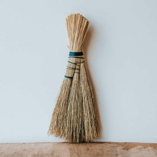 "The latest object of our admiration? Particularly poetic brooms by Sunhouse Craft, ""inspired by the timeless traditions of Appalachian crafts, designed and made in the rolling hills of Berea, Kentucky,"" recently spotted online via Maine shop Minka. Click the link in our bio to check out designer and broom-maker Cynthia Main's project. Photo from the Sunhouse website."