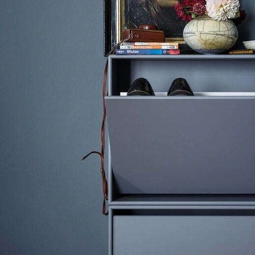 The only thing better than a closet of neatly-arranged shoes is a hidden storage cabinet for shoes alone. It's our favorite way of stealthily corralling shoes by the front door. Pictured here and designed by Peter J. Lassen for Montana Møbler, the Hall Shoe Cabinet comes in 40 different colors. Sold individually for $789 at Danish Design Store.